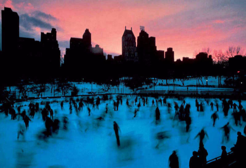 Ice Rink Central Park NYC 1983