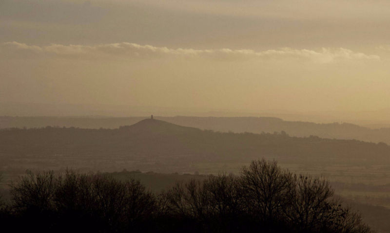 Purchase print of Valley of Death and Glastonbury Tor