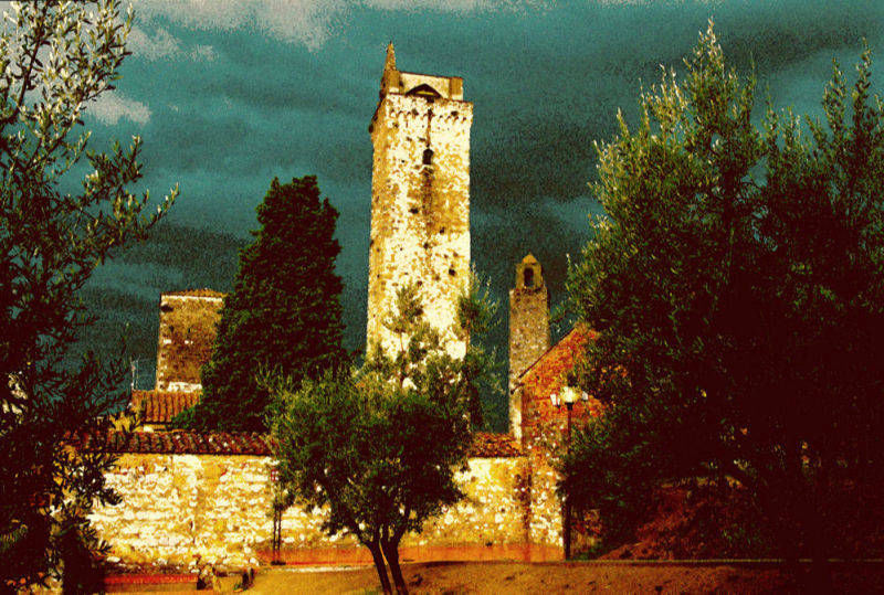 Purchase print of San Gimignano towers