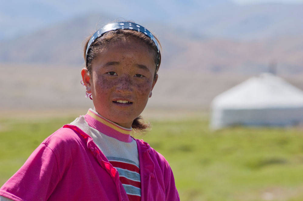 Young Mongolian Nomad girl